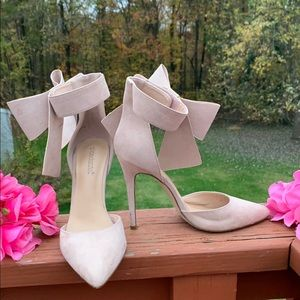 SHOEDAZZLE PRESENT BOW HIGH HEEL SHOES
